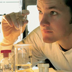 man working in lab